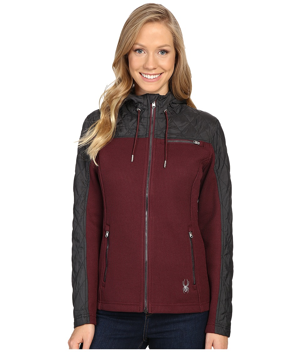 Spyder - Ardour Mid Weight Core Sweater Insulated Jacket (Fini/Black Multi Fabric) Women's Coat