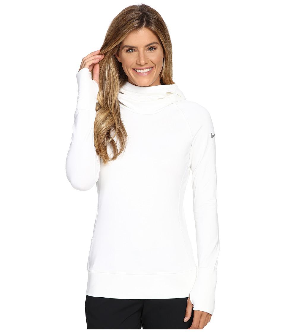 Nike Golf - Bunker Funnel Top (White/Metallic Silver) Women's Clothing
