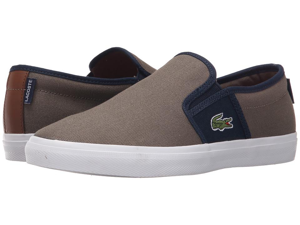 Lacoste - Gazon Sport Sep (Brown/Dark Blue) Men's Shoes
