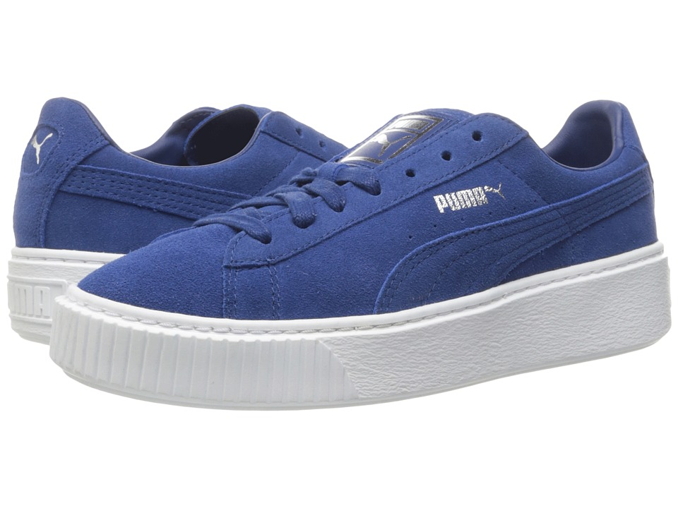 PUMA - Suede Platform Core (Peacoat/Peacoat/Puma White) Women's Shoes