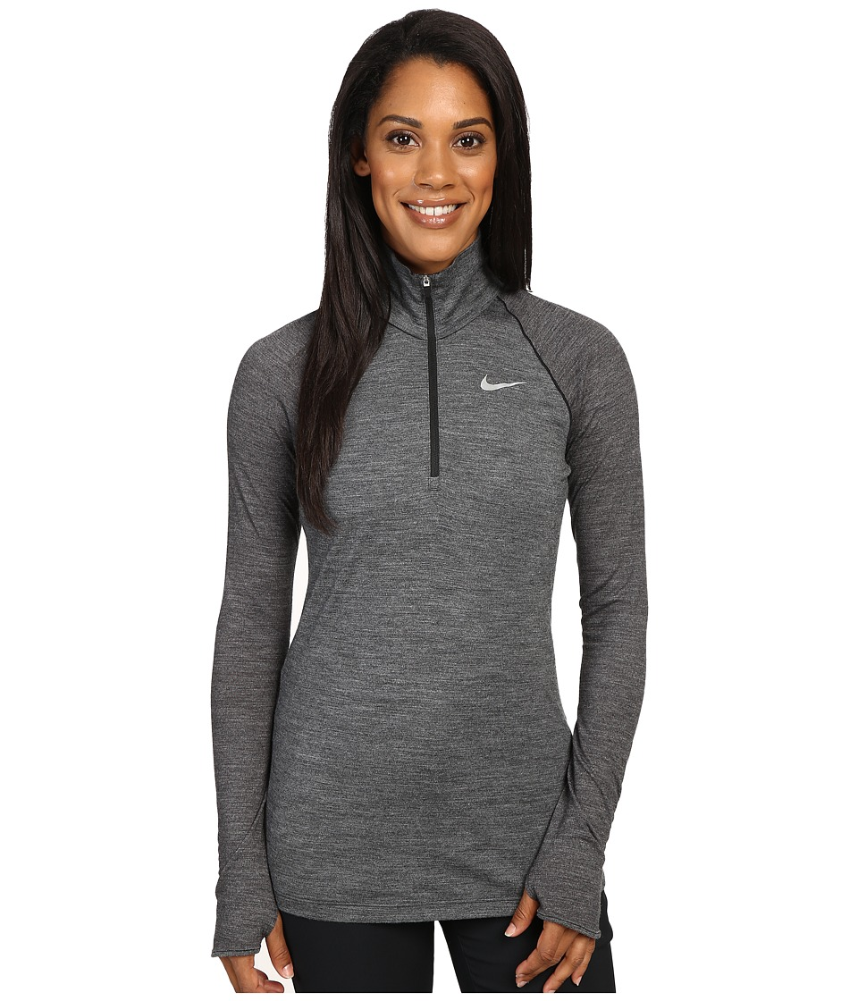 Nike Golf - 1/2 Zip Merino Long Sleeve Top (Wolf Grey/Black/Reflective Silver) Women's Clothing