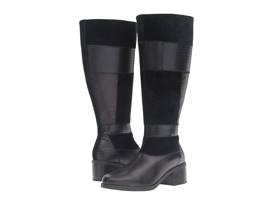 Clarks - Nevella Nova Wide Shaft (Black Combo) Women's Shoes