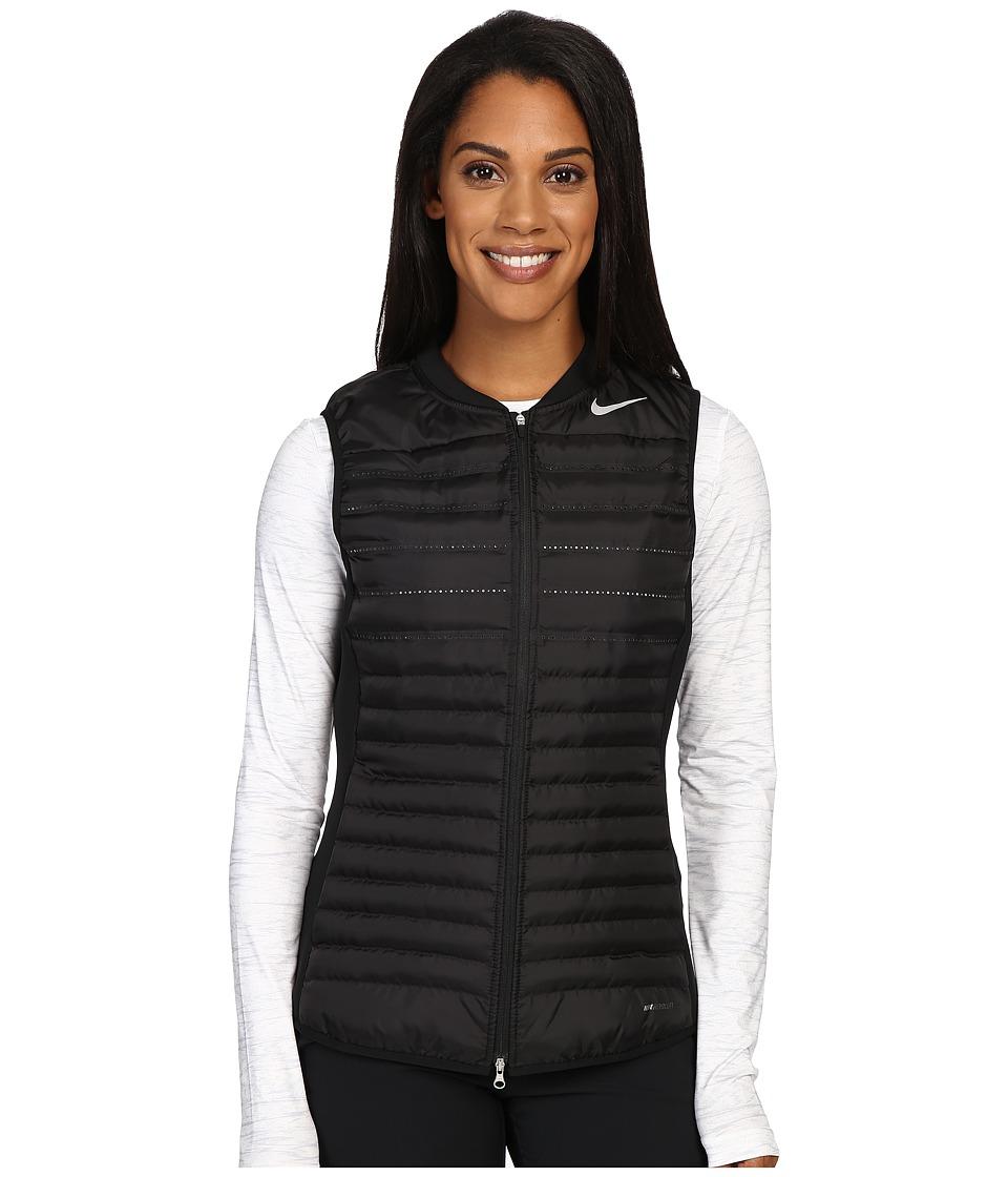 Nike Golf - Aeroloft Combo Vest (Black/Black/Wolf Grey/Reflective Silver) Women's Vest