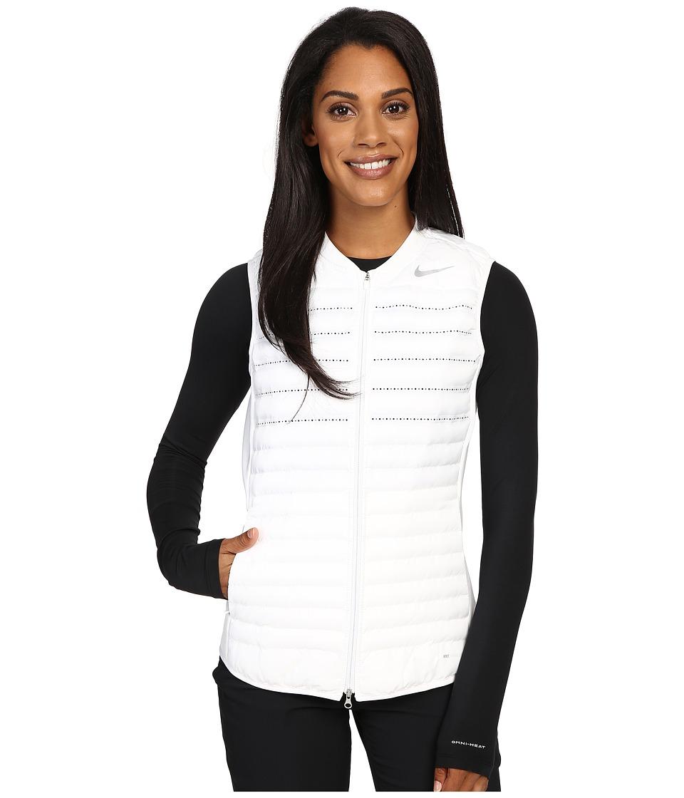 Nike Golf - Aeroloft Combo Vest (White/White/Wolf Grey/Reflective Silver) Women's Vest