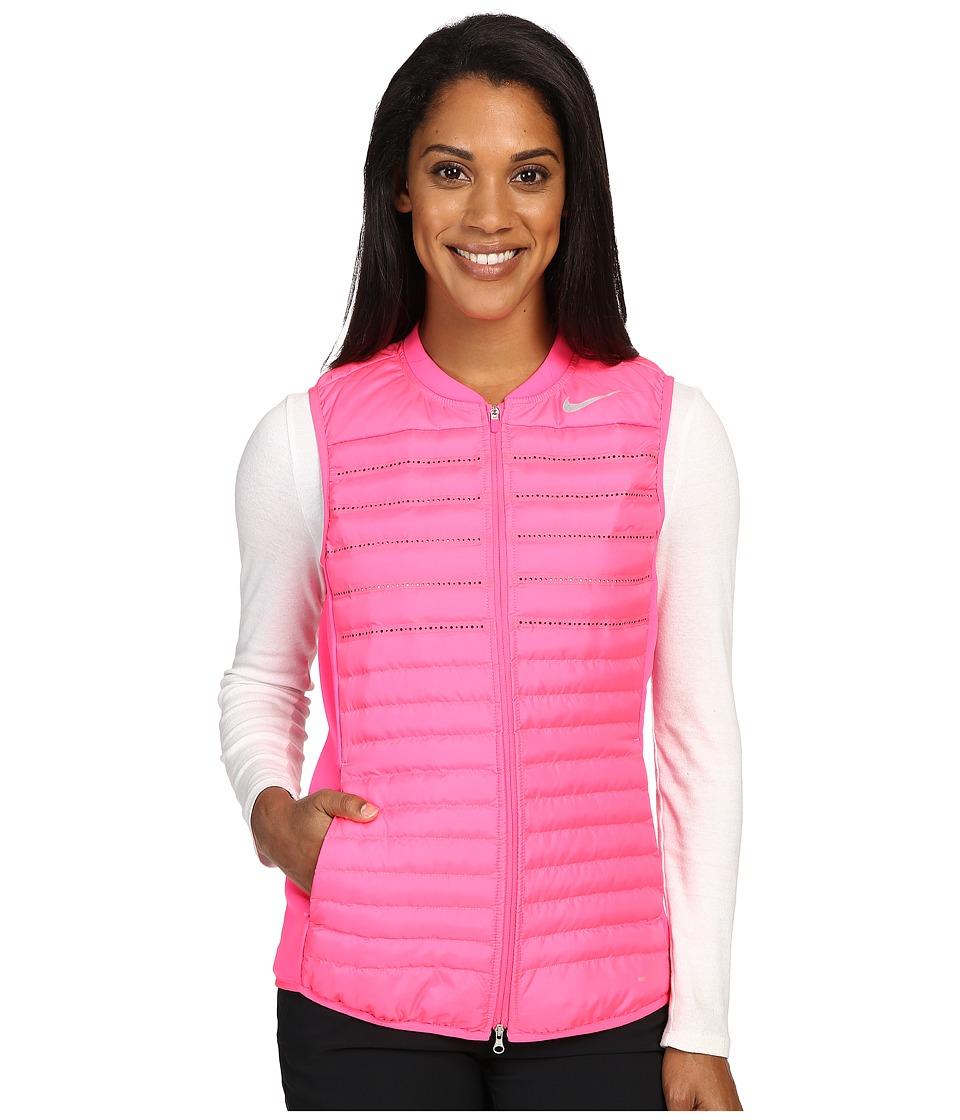 Nike Golf - Aeroloft Combo Vest (Hyper Pink/Hyper Pink/Wolf Grey/Reflective Silver) Women's Vest
