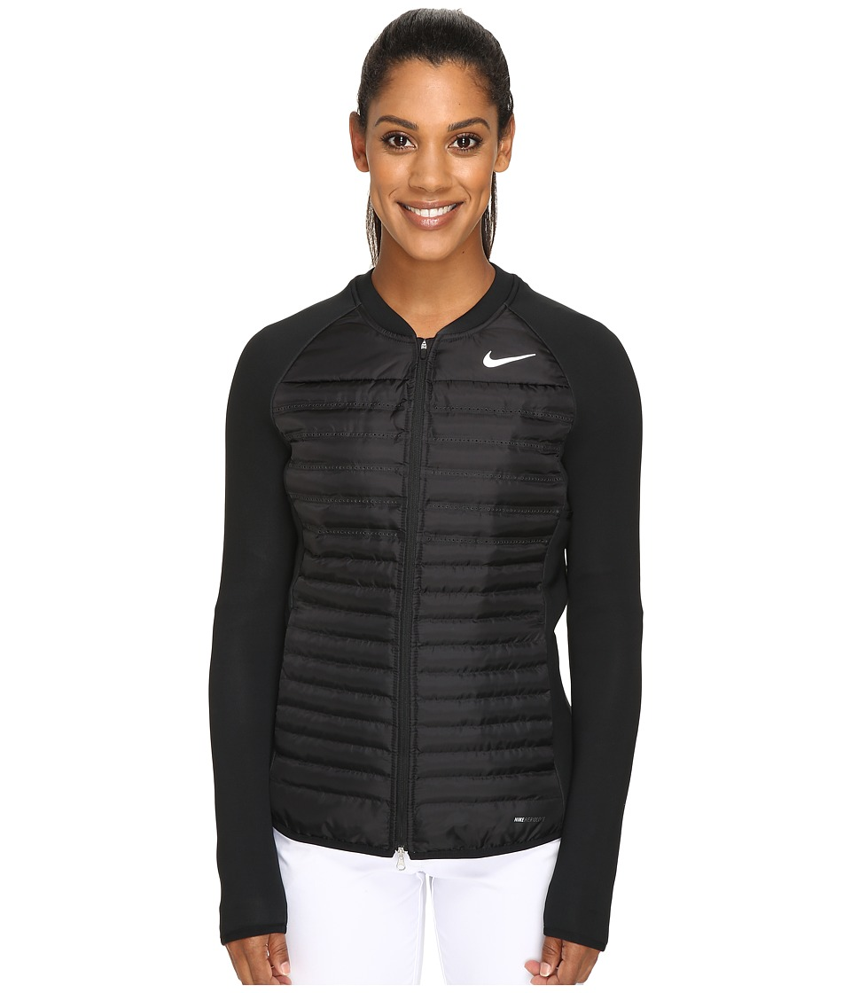 Nike Golf - Aeroloft Combo Jacket (Black/Black/Reflective Silver) Women's Coat