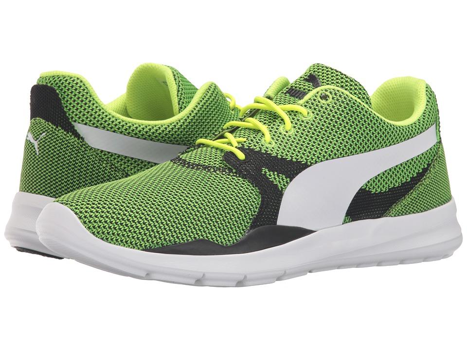 PUMA - Duplex Evo Knit (Safety Yellow/Steel Gray) Men's Running Shoes