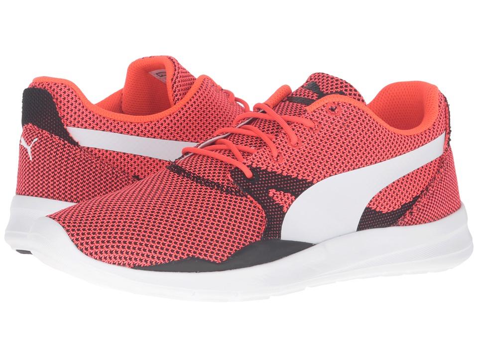 PUMA - Duplex Evo Knit (Red Blast/Glacier Gray) Men's Running Shoes