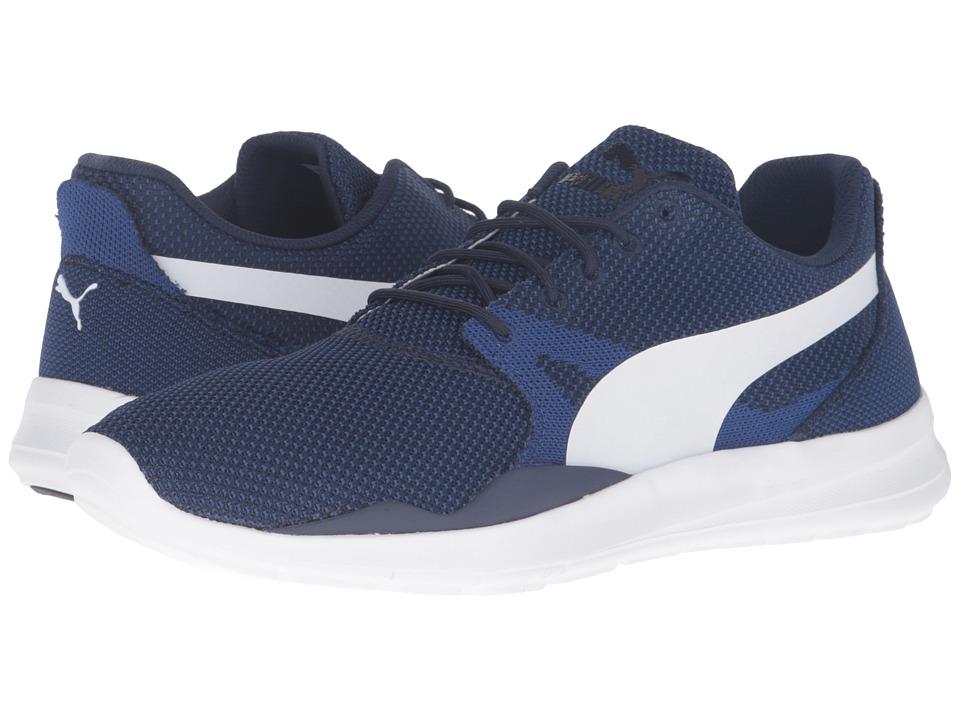 PUMA - Duplex Evo Knit (Mazarine Blue/Puma White) Men's Running Shoes