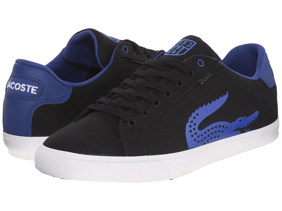 Lacoste - Grad Vulc TSP (Black/Blue) Men's Shoes
