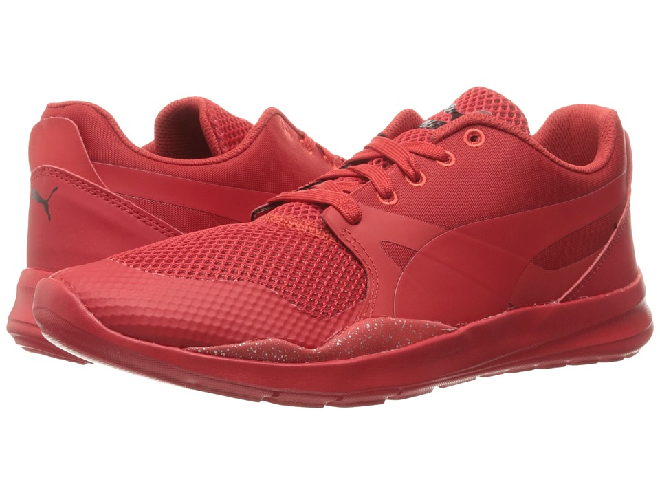 PUMA - Duplex Evo Graphic (Red Blast/High Risk Red) Men's Running Shoes