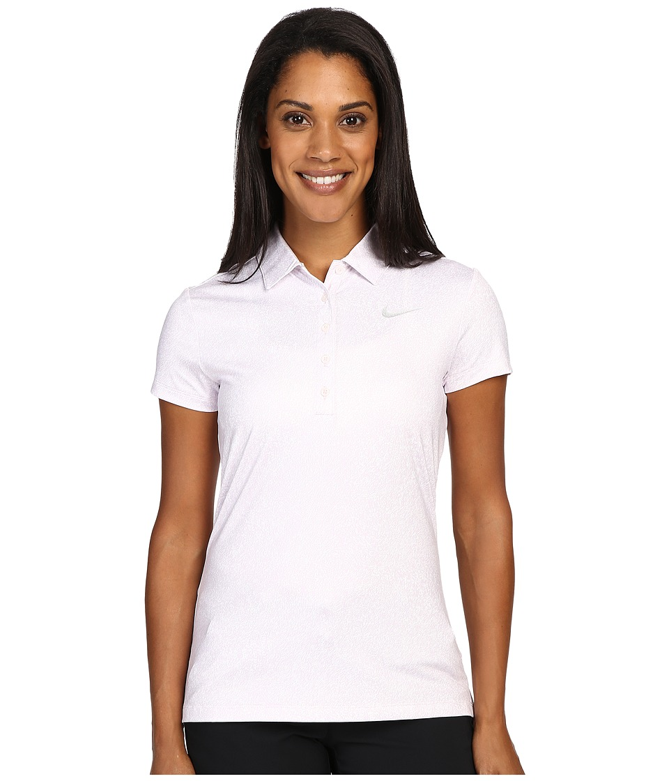 Nike Golf - Precision Print Polo (Bleached Lilac/Metallic Silver) Women's Short Sleeve Pullover