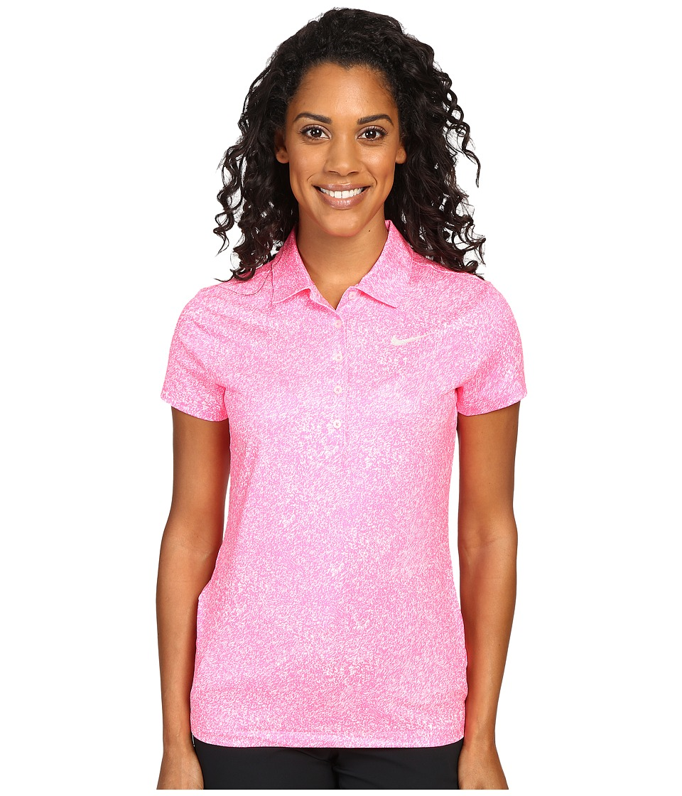 Nike Golf - Precision Print Polo (Hyper Pink/Metallic Silver) Women's Short Sleeve Pullover
