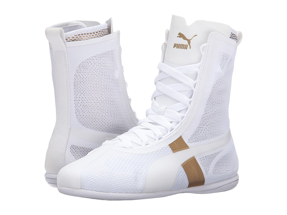 PUMA - Eskiva High EVO (Puma White/Gold) Women's Shoes