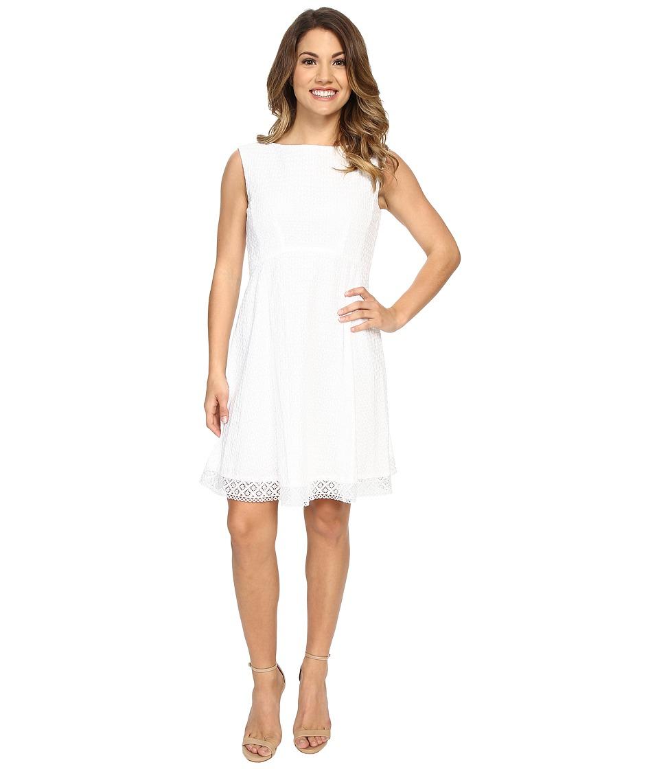 Tahari by ASL Petite Petite Wayne-A Dress (White) Women