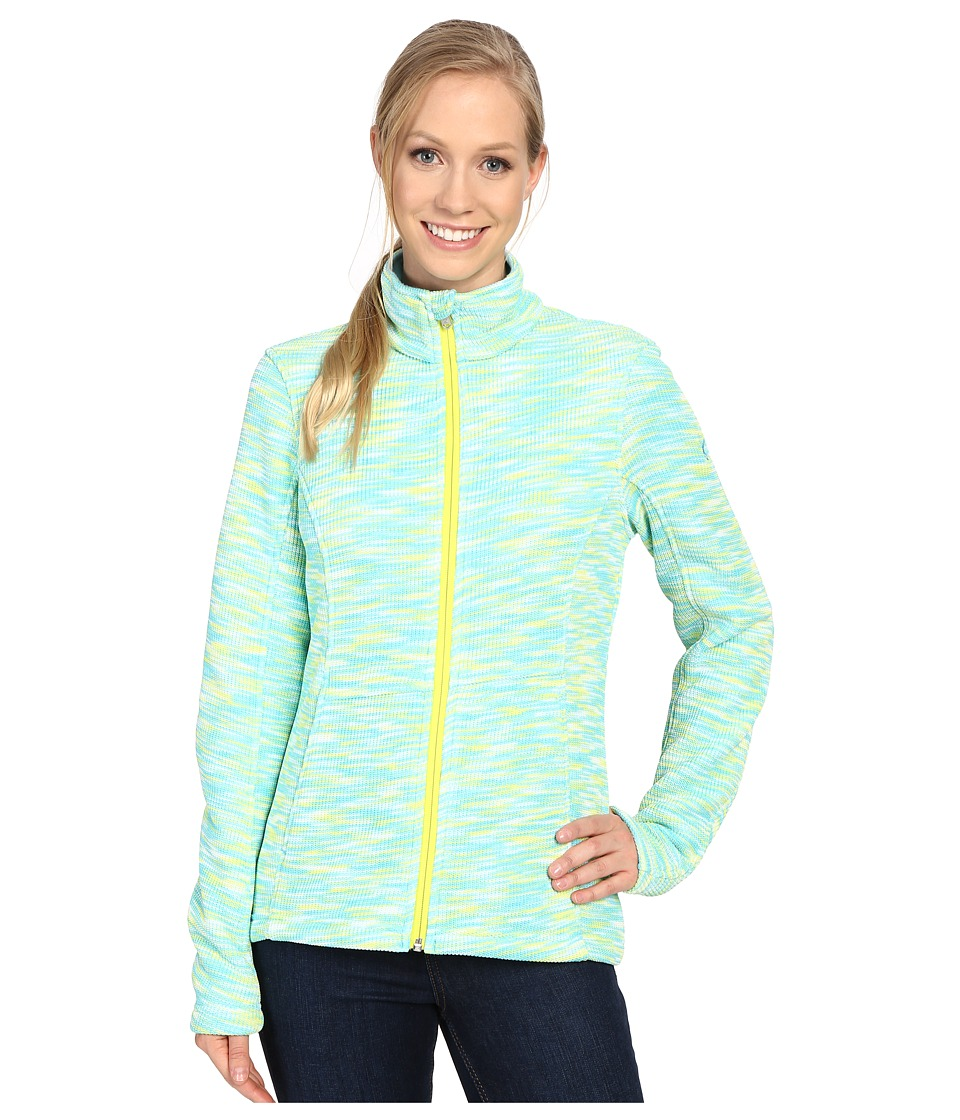 Spyder - Endure Space Dye Full Zip Mid Weight Core Sweater (Freeze/White/Acid) Women's Sweater
