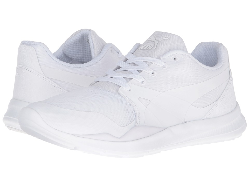 PUMA - Duplex Evo (Puma White/Puma White/Puma White) Men's Running Shoes