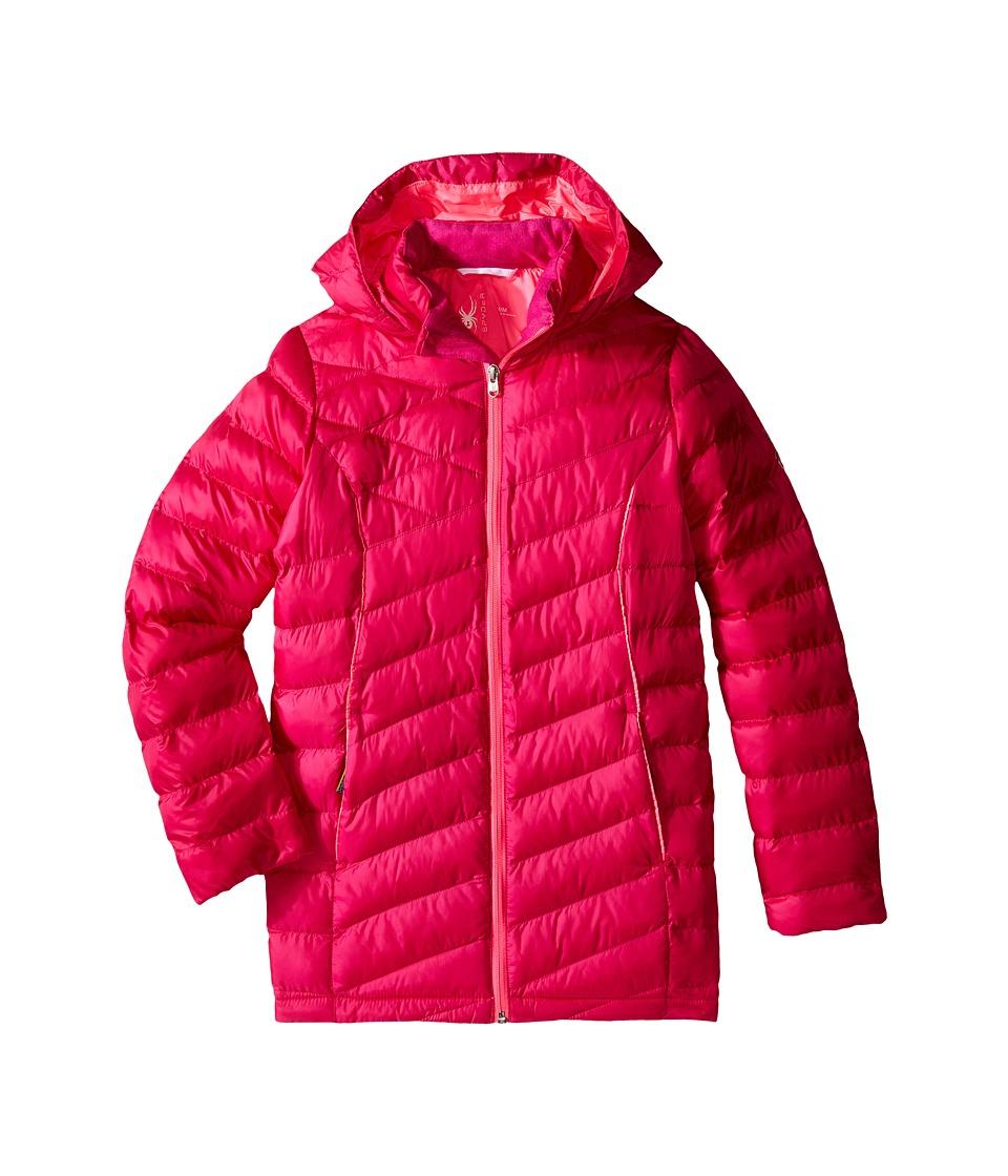 Spyder Kids - Timeless Long Synthetic Down Jacket (Little Kids/Big Kids) (Voila/Bryte Bubblegum) Girl's Coat