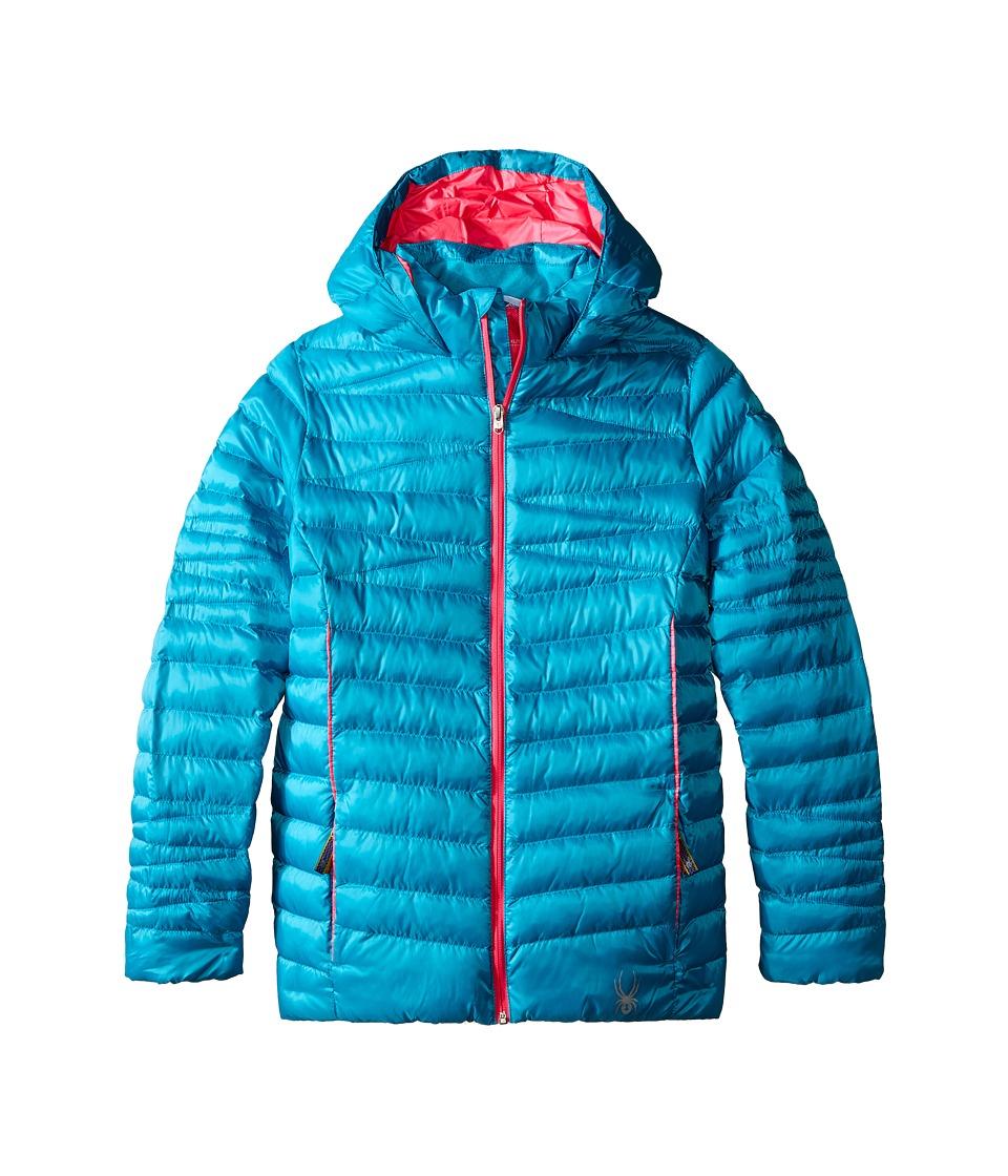 Spyder Kids - Timeless Synthetic Down Jacket (Little Kids/Big Kids) (Bluebird/Bryte Bubblegum) Girl's Coat