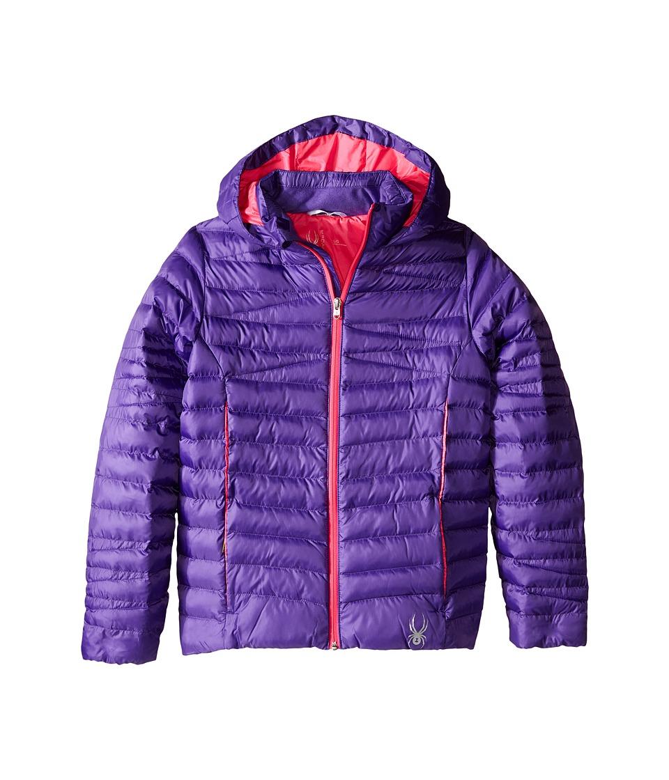 Spyder Kids - Timeless Synthetic Down Jacket (Little Kids/Big Kids) (Iris/Bryte Bubblegum) Girl's Coat