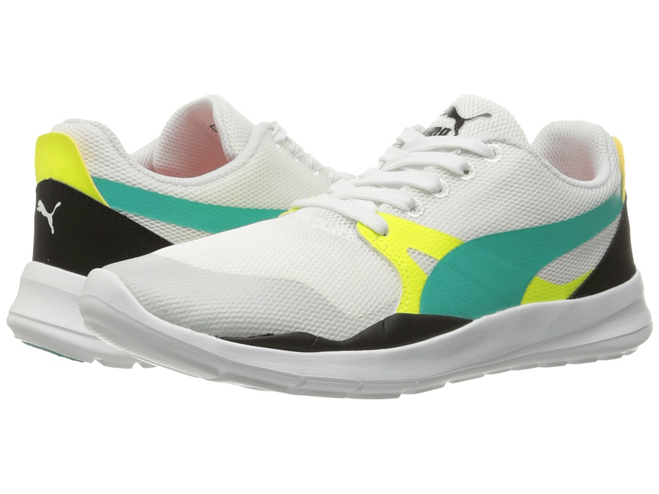 PUMA - Duplex Evo (Puma White/Spectra Green/Puma Black) Men's Running Shoes