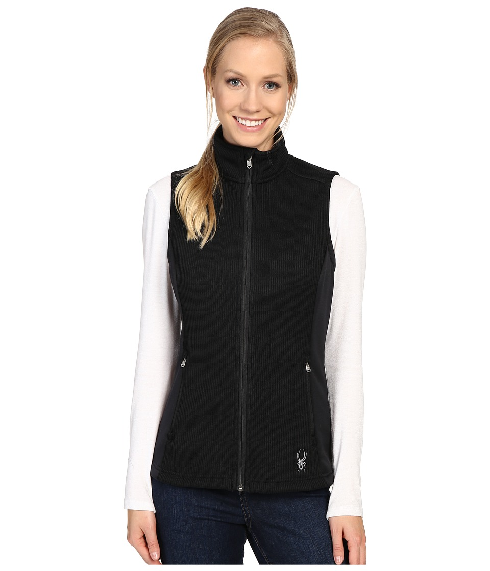 Spyder - Melody Full Zip Mid Weight Core Sweater Vest (Black/Black 1) Women's Vest