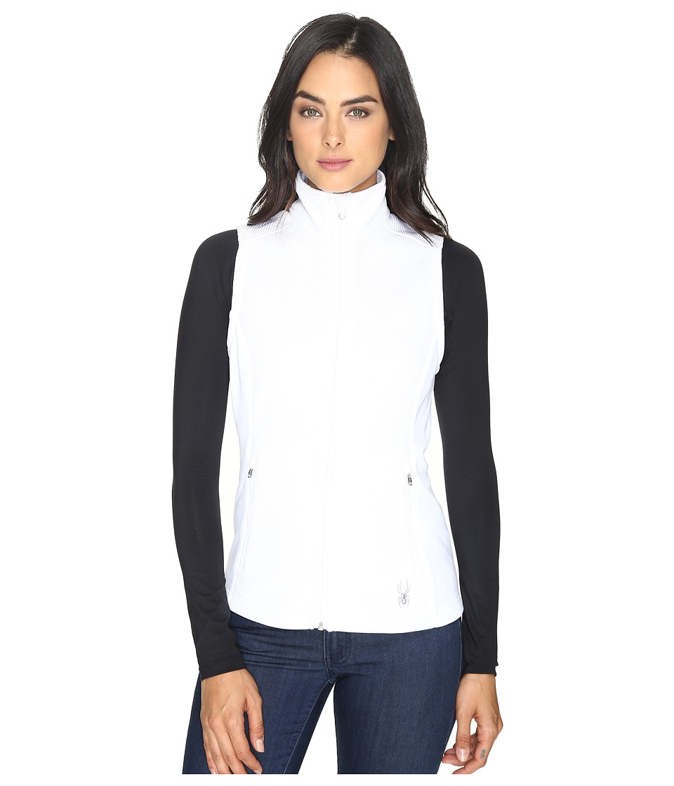 Spyder - Melody Full Zip Mid Weight Core Sweater Vest (White/White 1) Women's Vest