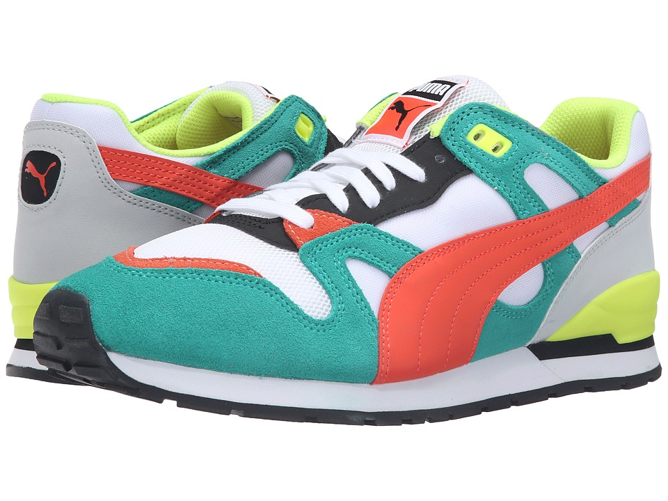 PUMA - Duplex (Puma White/Spectra Green/Red Blast) Men's Running Shoes