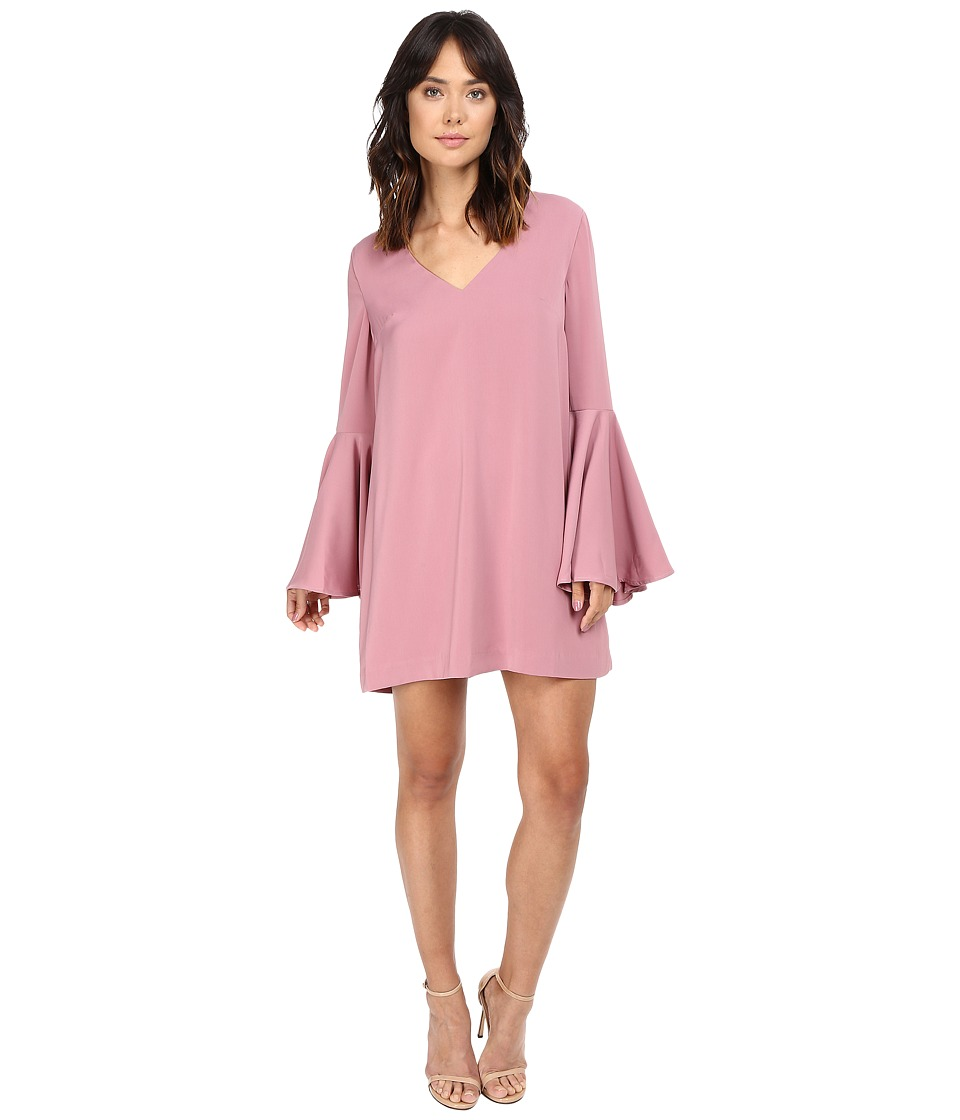 KEEPSAKE THE LABEL - Faithful Long Sleeve Mini Dress (Rose Pink) Women's Dress