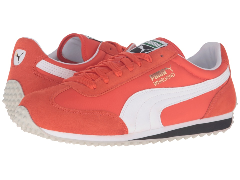 PUMA - Whirlwind Classic (Mandarine Red/Puma White) Men's Lace up casual Shoes