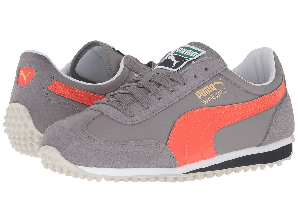PUMA - Whirlwind Classic (Steel Gray/Mandarine Red) Men's Lace up casual Shoes