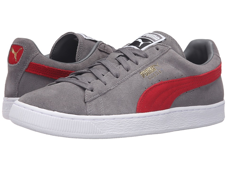PUMA - Suede Classic+ (Steel Gray/Barbados Cherry) Men's Shoes