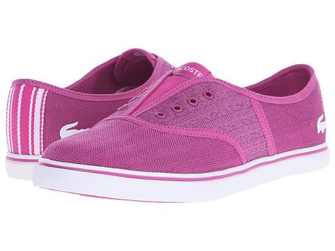 Lacoste - Rene Sleek Slip HPC (Dark Pink/White) Women's Shoes