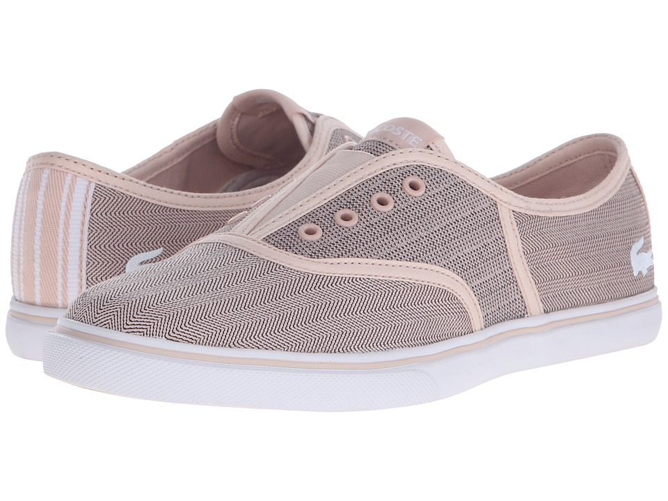 Lacoste - Rene Sleek Slip HPC (Light Pink/White) Women's Shoes