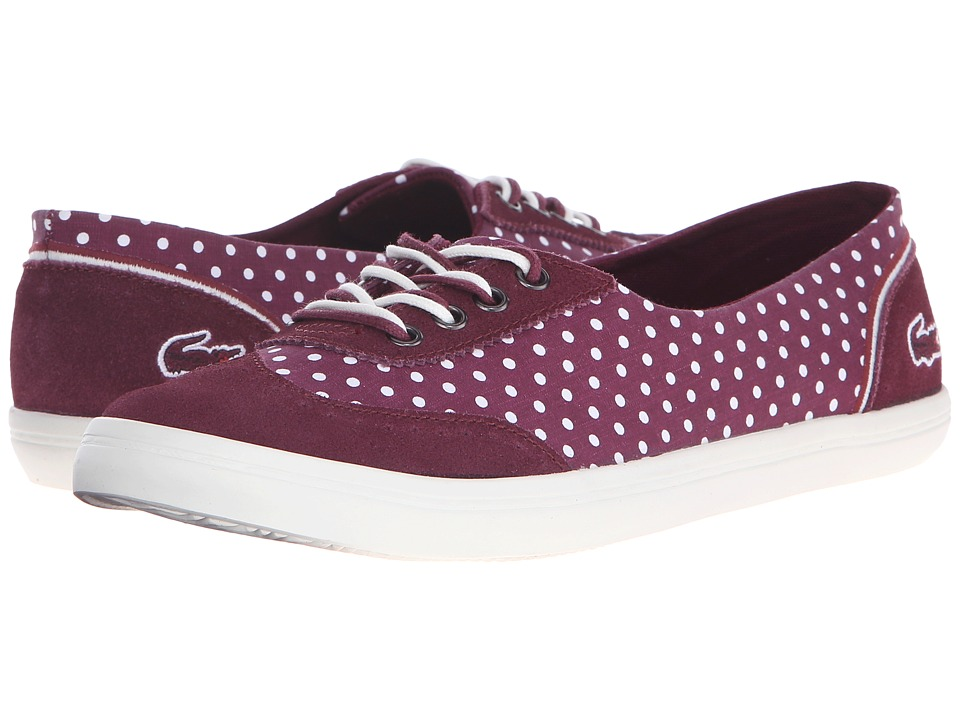 Lacoste - Zamir 3 AP (Burgundy) Women's Shoes