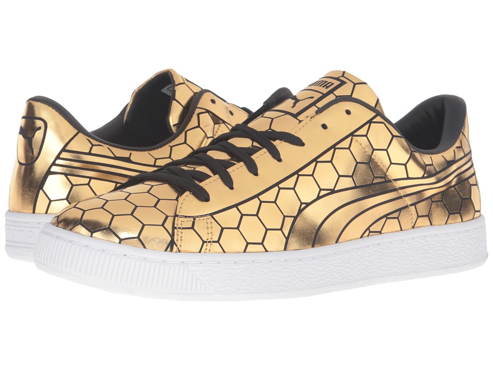 PUMA - Basket Classic Metallic (Gold) Men's Basketball Shoes