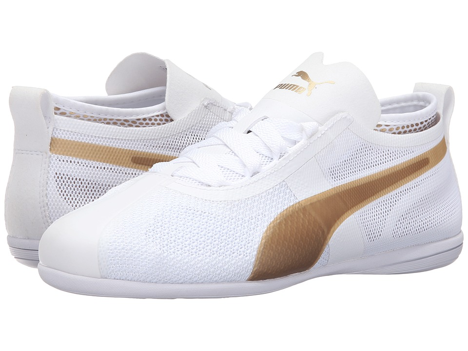 PUMA - Eskiva Low EVO (Puma White/Gold) Women's Shoes