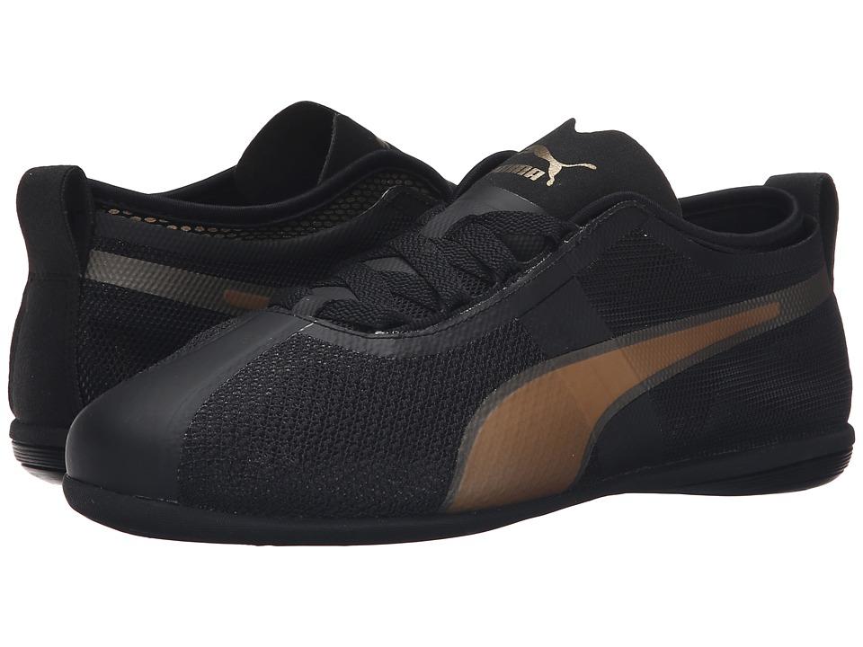 PUMA - Eskiva Low EVO (Puma Black/Gold) Women's Shoes