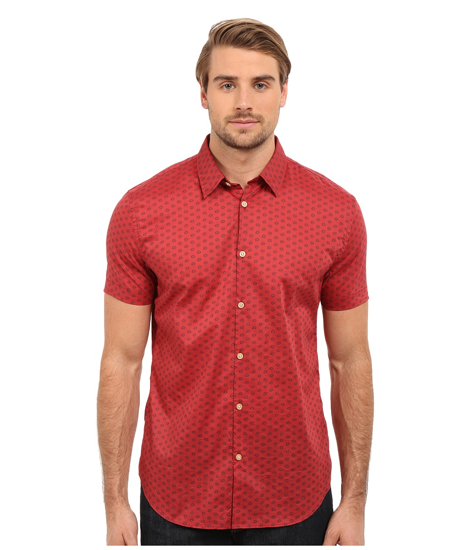 John Varvatos Star U.S.A. - Slim Fit Sport Shirt W443S1B (Brick) Men's Clothing