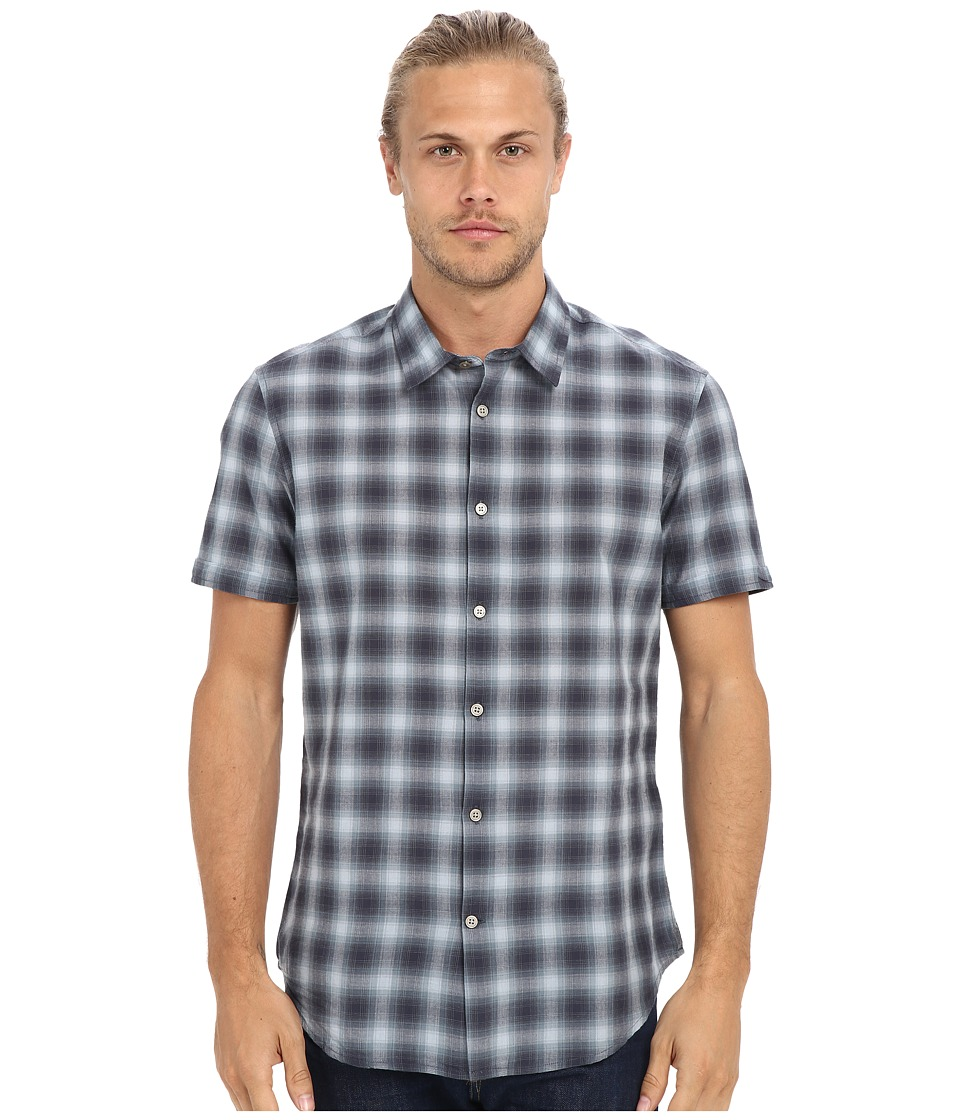 John Varvatos Star U.S.A. - Slim Fit Sport Shirt with Cuffed Short Sleeves W443S1B (Ocean Blue) Men's Clothing