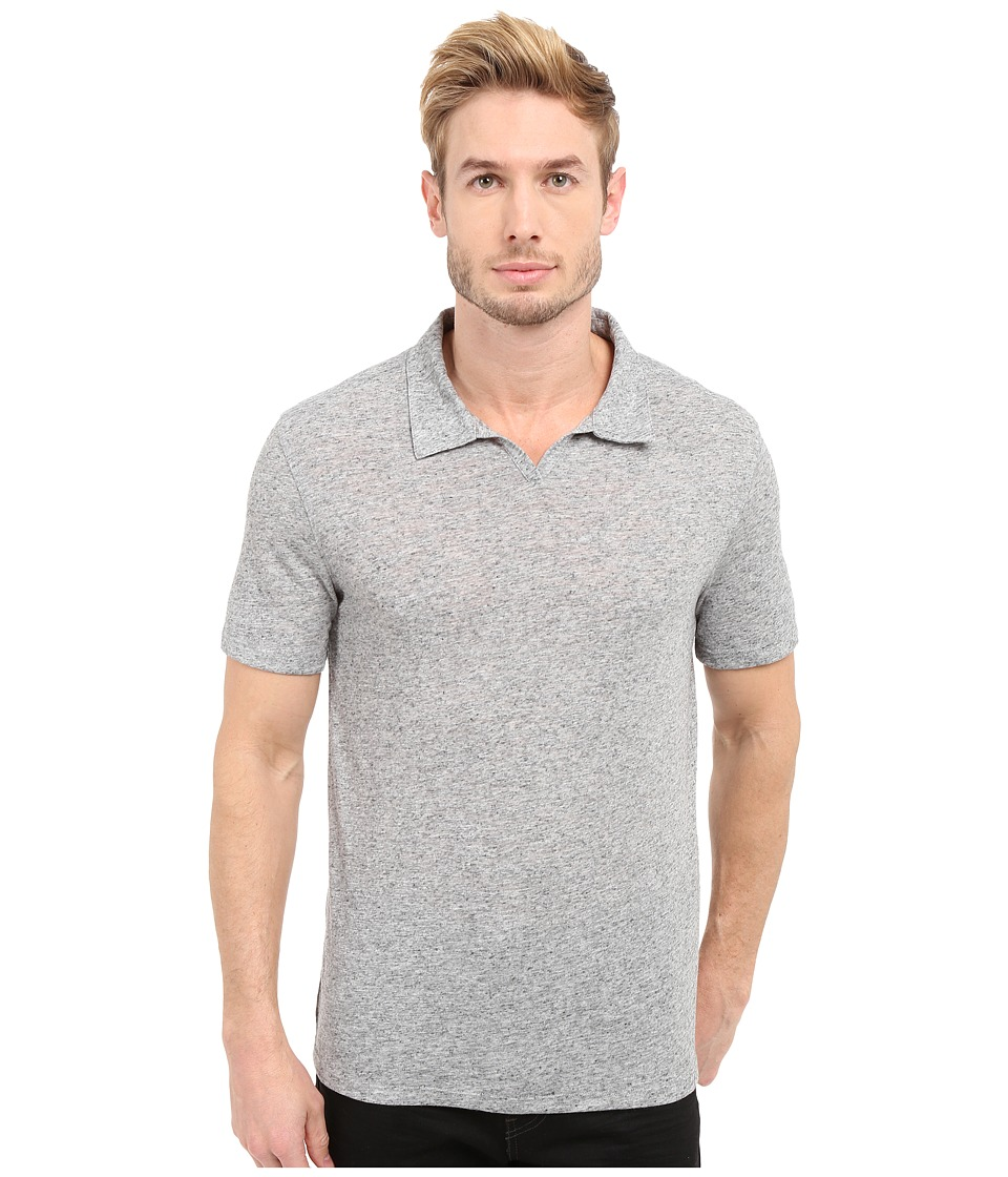 John Varvatos Star U.S.A. - Johnny Collar Knit Shirt K2571S1L (Grey Heather) Men's Short Sleeve Pullover