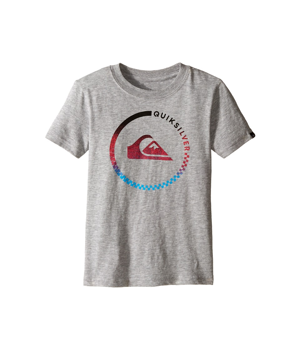 Quiksilver Kids - Active Blend Screen Print (Toddler) (Grey Heather) Boy's T Shirt