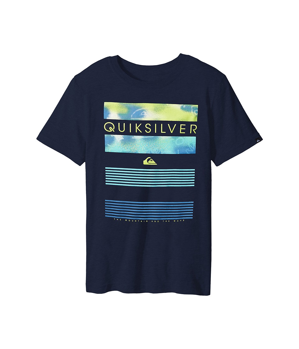Quiksilver Kids - Line Up Screen Print (Big Kids) (Navy Blazer) Boy's T Shirt
