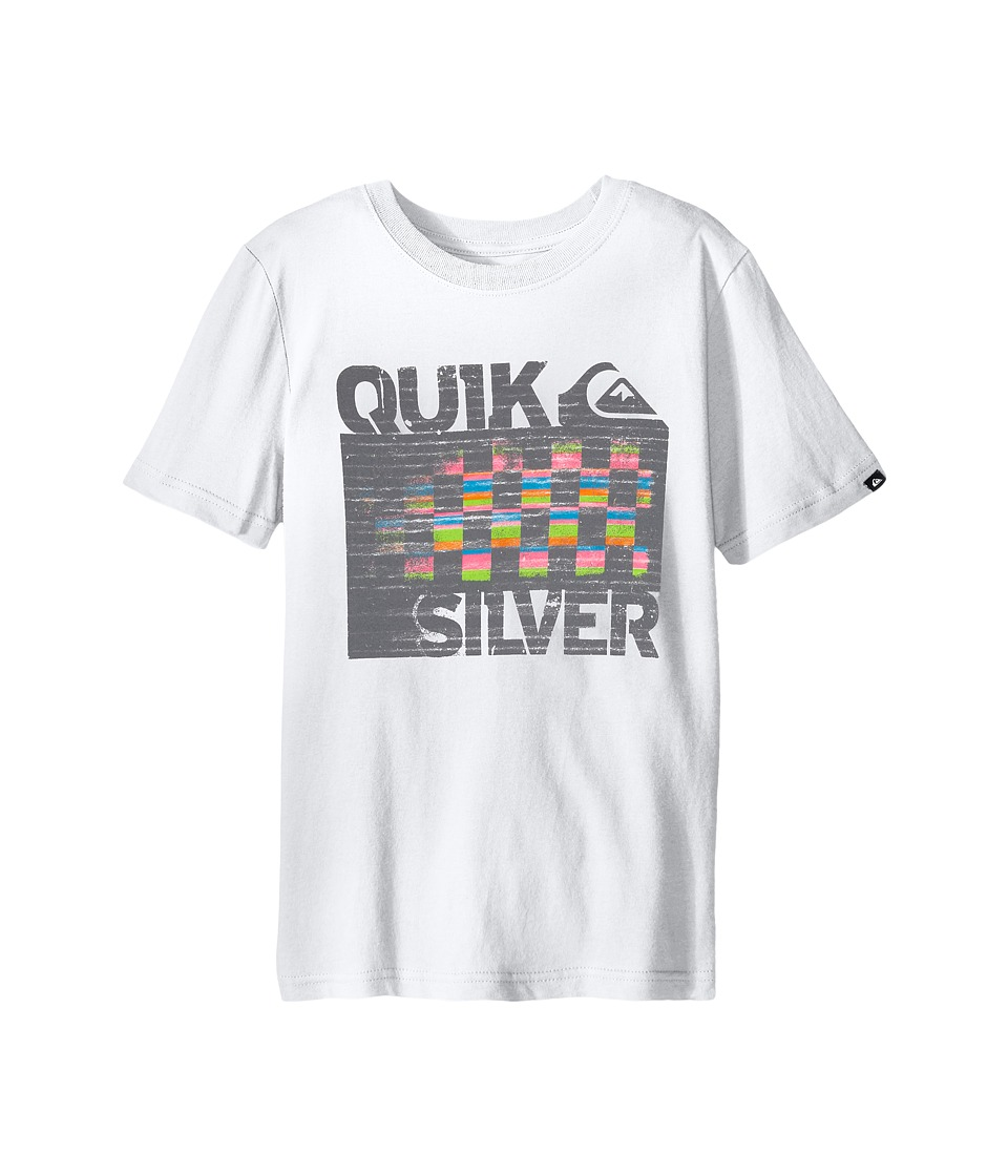 Quiksilver Kids - 4X4 Screen Print (Big Kids) (White) Boy's T Shirt