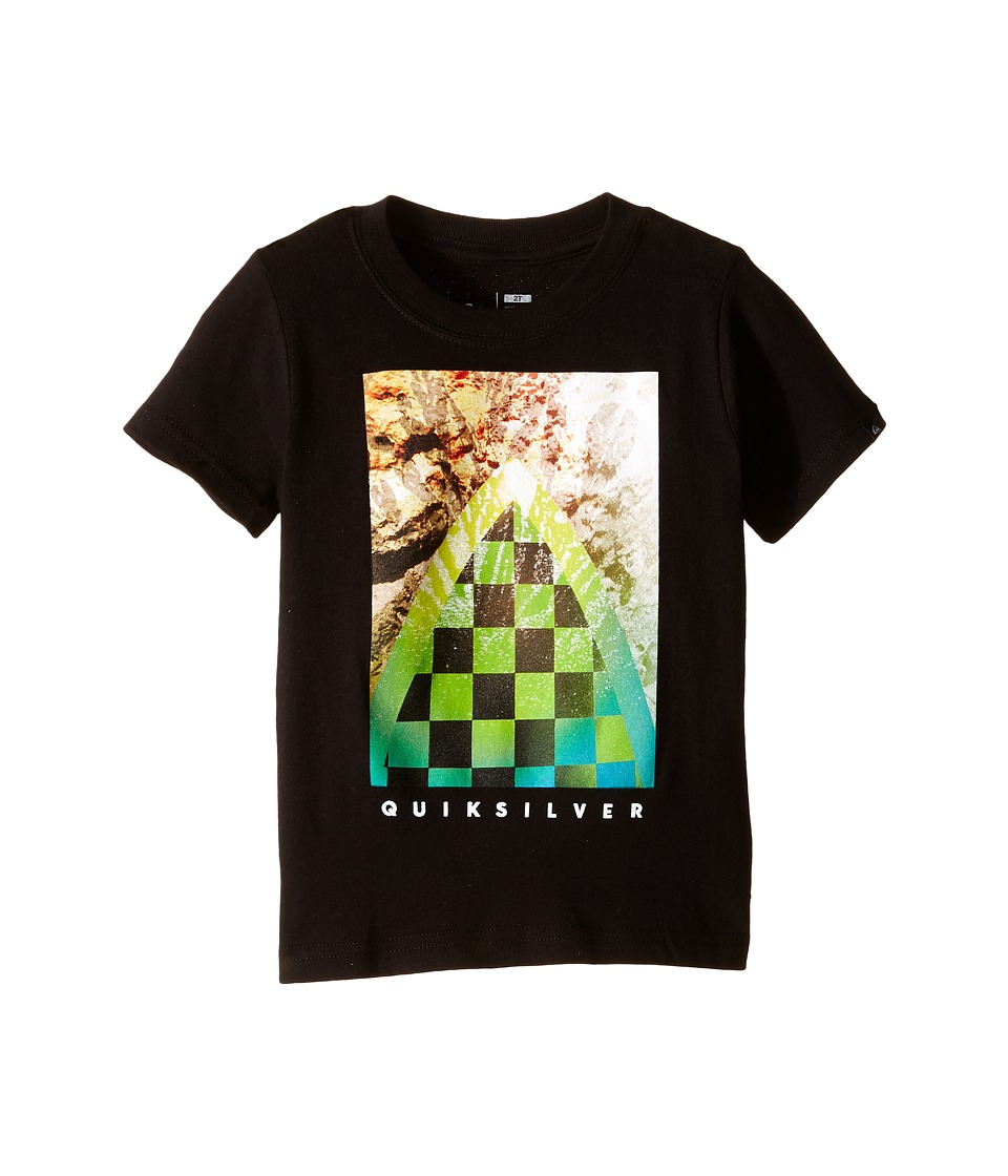 Quiksilver Kids - Checker Channel Screen Print (Toddler) (Black) Boy's Short Sleeve Pullover