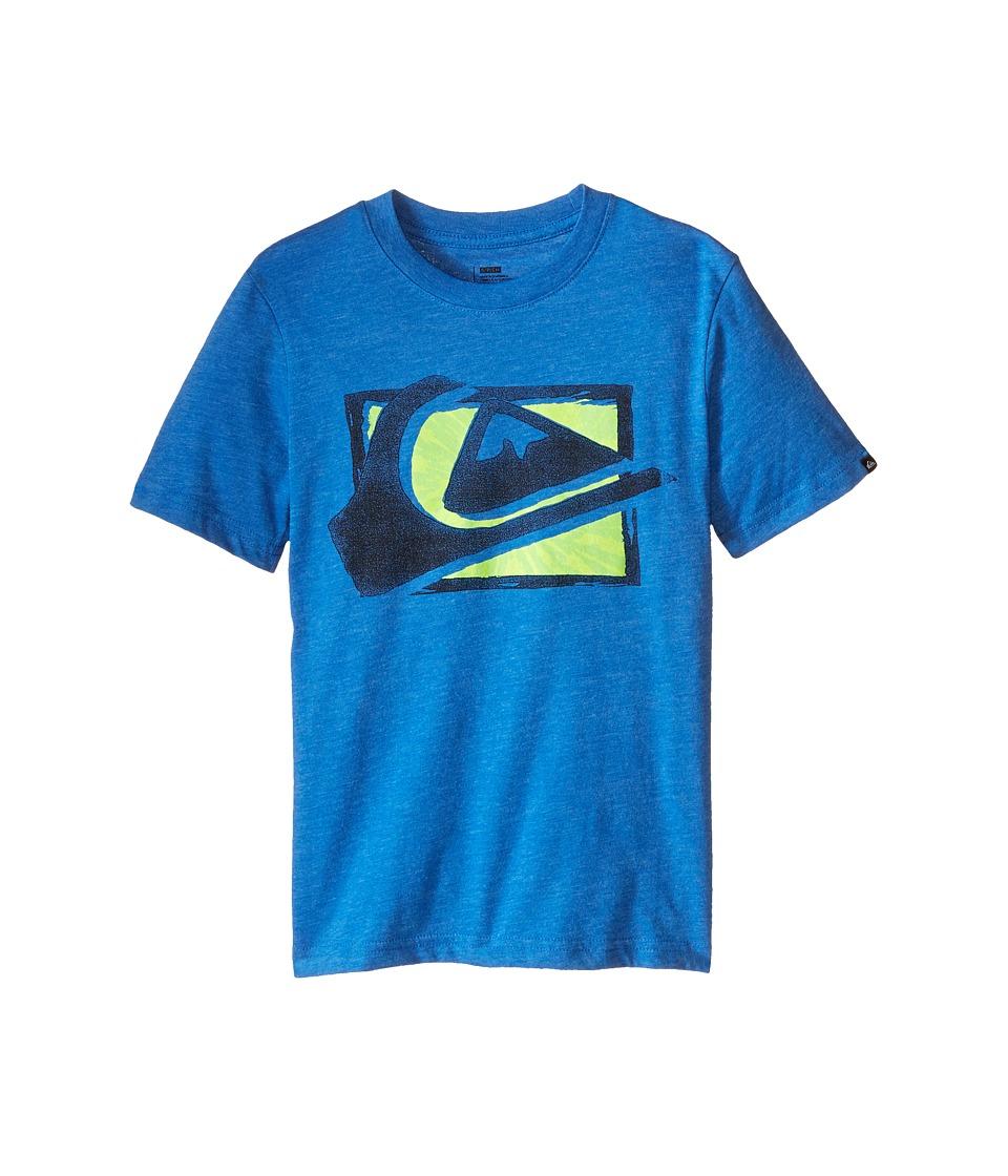 Quiksilver Kids - MW Spray Screen Print (Big Kids) (Turkish Sea Heather) Boy's T Shirt