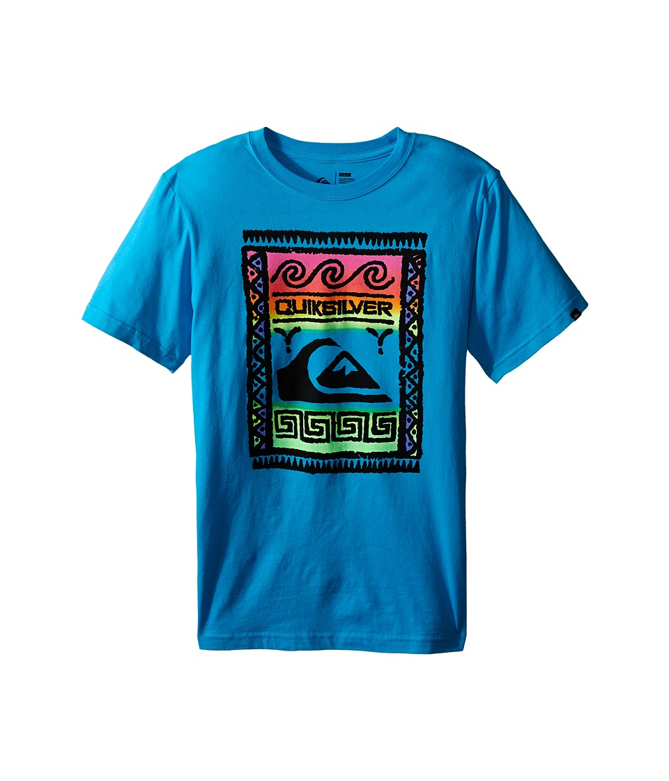Quiksilver Kids - Wall Street Screen Print (Big Kids) (Hawaiian Ocean) Boy's T Shirt