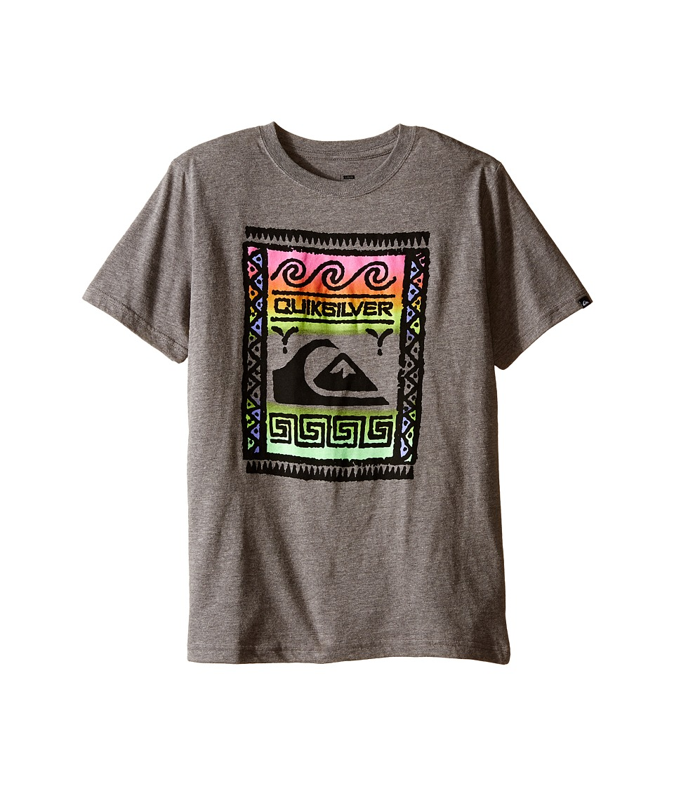 Quiksilver Kids - Wall Street Screen Print (Big Kids) (Medium Grey Heather) Boy's T Shirt
