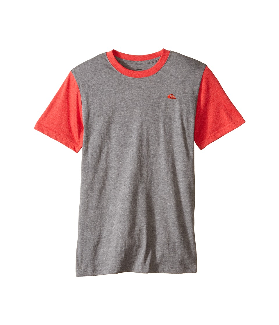 Quiksilver Kids - Prime Screen Print (Big Kids) (Medium Grey Heather) Boy's T Shirt