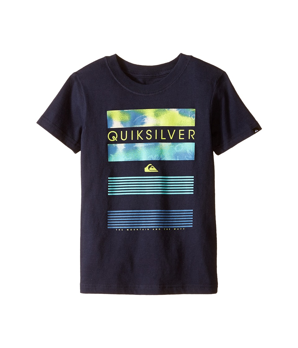Quiksilver Kids - Line Up Screen Print (Toddler) (Navy Blazer) Boy's T Shirt